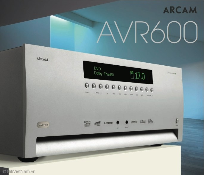 Arcam AVR600 – Receiver cho rạp hát hi-end tại gia