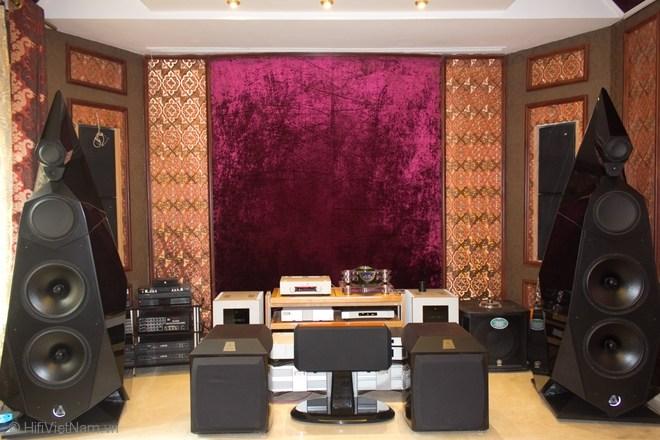 Hệ thống âm thanh triệu đô của đại gia Thái Nguyên
