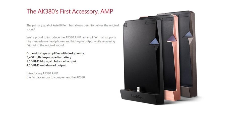 Astell&Kern giới thiệu thiết bị amplifier module AK380 AMP, bao da mới cho AK320